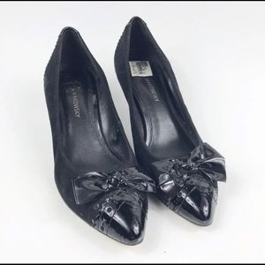 B Makowsky Suede Pump Shoes With Bow Size 9M
